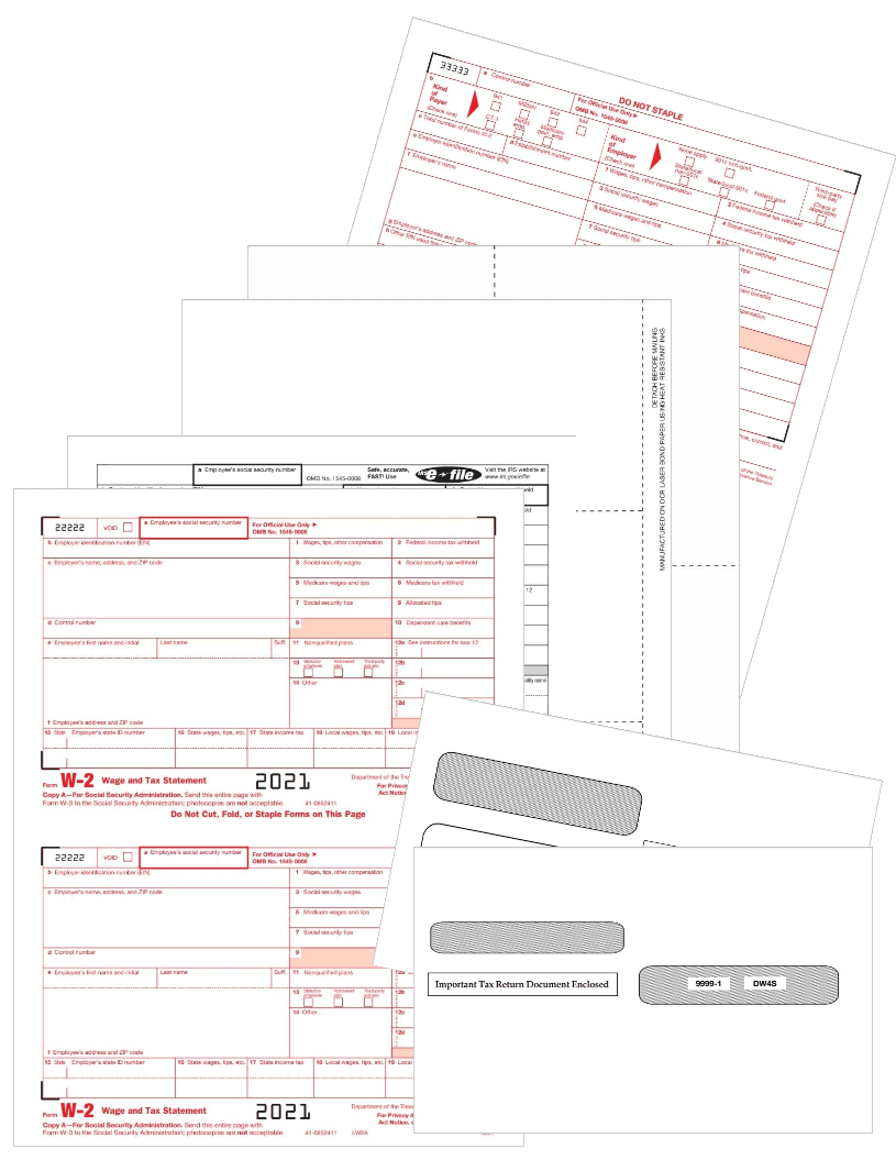 2021 W2 Tax Form Sets with Official W2 Forms or Blank Perforated Paper - ZBPforms.com